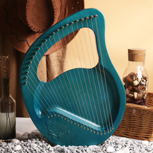 portable 21 24 Tones  with 21 24 Strings solid board and solid color Lyre Harp Musical Instrument