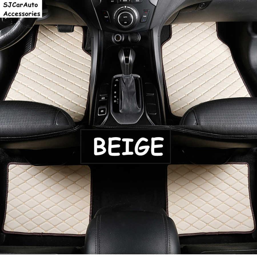 SJ العالمي سيارة الحصير بساط جلدي بالسيارة ل bmw جميع نماذج g30 e90 f01 f10 f11 f25 f30 x1 x3 f25 x5 f15 e34 e60 e65 e70 e83