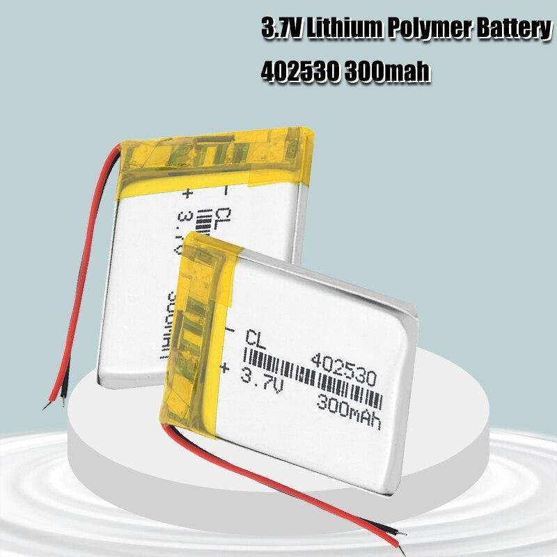 300mAh akumulator akumulator litowo-jonowy 3.7 V 402530 Li-baterie polimerowe zabawka elektryczna LED światło zestaw słuchawkowy Bateria