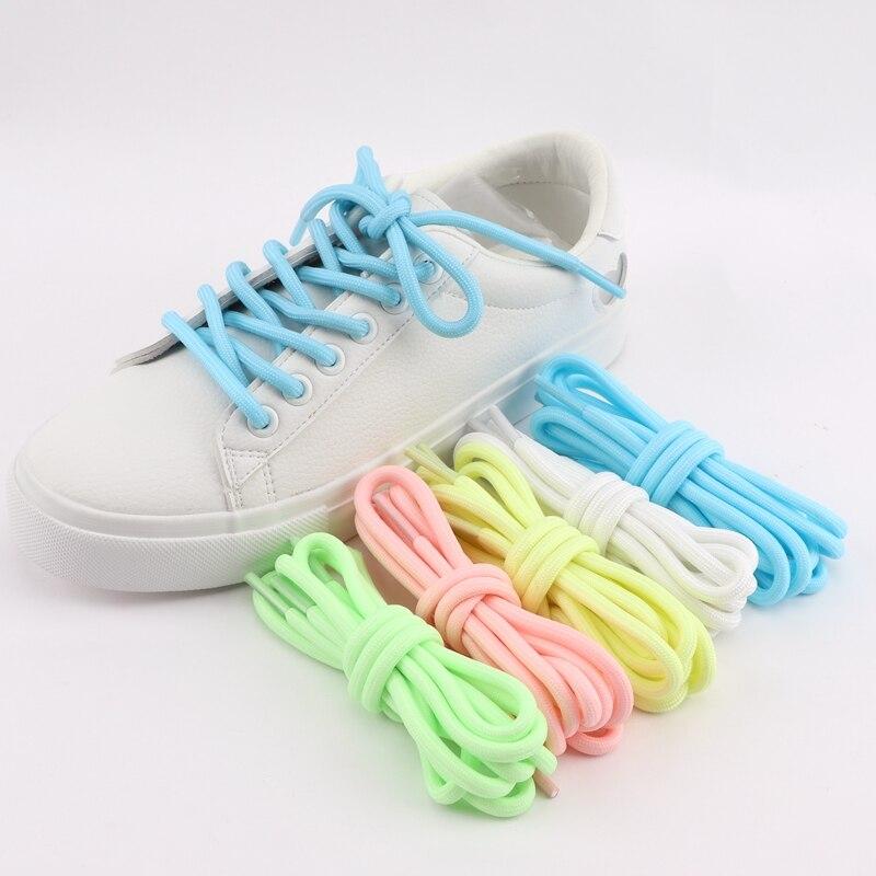 Luminous Shoelaces Glow In The Dark Night Color Round Fluorescent Shoelace Sports Canvas Shoelaces Adult Children Shoe Laces