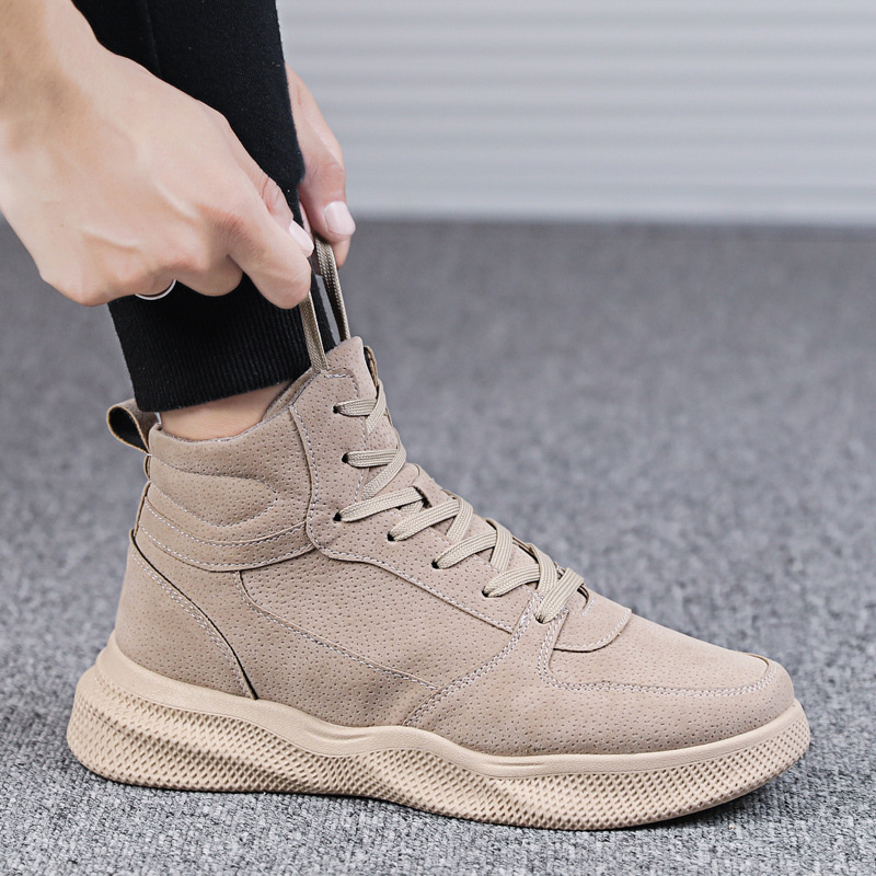 2019 New Style Winter Hight-top Trendy Shoes Men Casual High State Korean-style Trend Versatile Mid-top Martin Workwear MEN'S SH