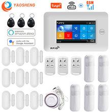 Système d'alarme de sécurité domestique sans fil, wi-fi, GSM, panneau tactile 4.3
