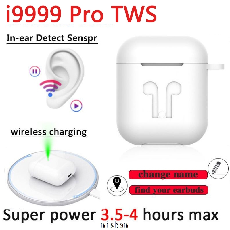 New Original I9999 Pro TWS 1:1 In-ear Bluetooth Earphone Mini Wireless Sport Headset Headphones Stereo Earbuds Elari PK Aire 2 3