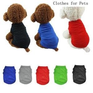 Одежда для домашних животных, котов теплые пижамные комплекты платье-майка с рисунком собачки и котика Одежда для девочек костюм для малень...