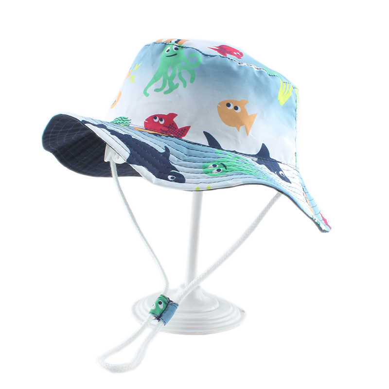 Summer Infants Animal Floral Print Pattern Outdoor Sunscreen Hats Fisherman Caps