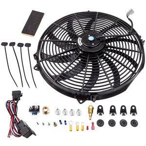 """Image 2 - 16 """"3000 CFM Fan 10 Klingen Kühler Lüfter Reversible 12V Thermostat"""