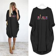 Размера плюс вечерние Женское платье Париж Эйфелева башня с