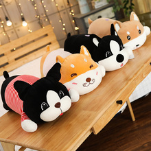 цена на New Nice Cute Dog Plush Toys Stuffed Down Cotton Animal Doll Kawaii Corgi Shiba Inu Toys for Children Soft Pillow Birthday Gift