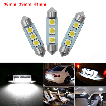 2PCS C5W CANBUS Led Car Interior Dome Reading Lamp Bulb For Skoda Octavia A5 A7 2 Fabia Yeti BMW E60 F30 X5 E53 Inifiniti image