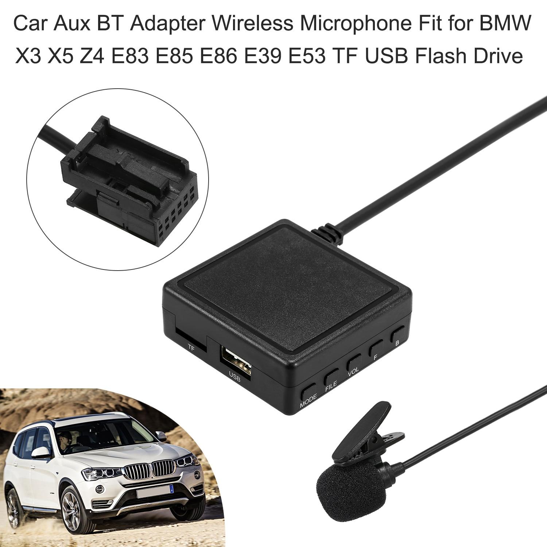 Car Bluetooth Receiver Module AUX-in Audio Music Cable Adapter 12Pin Port For BMW X5 X3 Z4 E83 E85 E86 E53 MINIONE COOPER