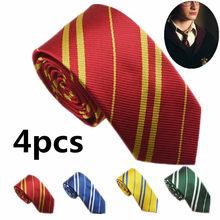 Комплект из 4 предметов для детей и взрослых, детей Slytheri/Gryffindo/Hufflepuf Potte галстук-бабочка в студенческом стиле Косплэй Хэллоуин вечерние поста...