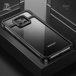 Image 1 - New Metal Frame Phone Case For huawei mate 20 30 mate 20 30 pro  Magnetic Attraction Bare Machine Feel Drop proof Phone Cover
