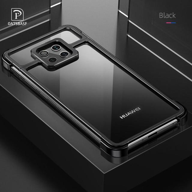 New Metal Frame Phone Case For huawei mate 20 30 mate 20 30 pro  Magnetic Attraction Bare Machine Feel Drop proof Phone Cover