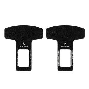 Image 4 - 2pcs Universal Metal Car Safety Seat Belt Buckle Alarm Stopper Clip Clamp Eliminator Stop Warning