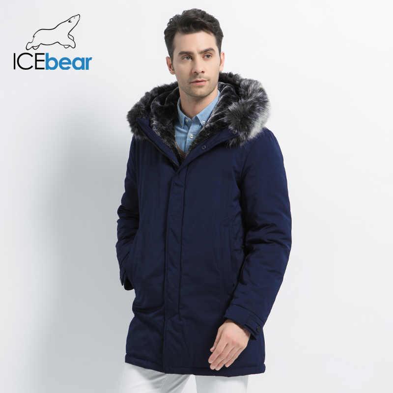 ICEbear 2019 新冬メンズジャケットフード付き男性ジャケット高品質男性服のファッションブランドの男性のコート MWD19928D