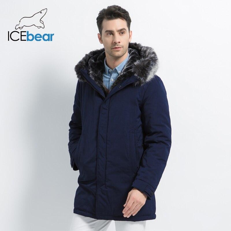 ICEbear 2019 Nuovi Uomini di Inverno Giacca Con Cappuccio da Uomo Giacca di Alta Qualità Uomo Abbigliamento di Marca di Modo Cappotto Maschile MWD19928D-in Parka da Abbigliamento da uomo su  Gruppo 2