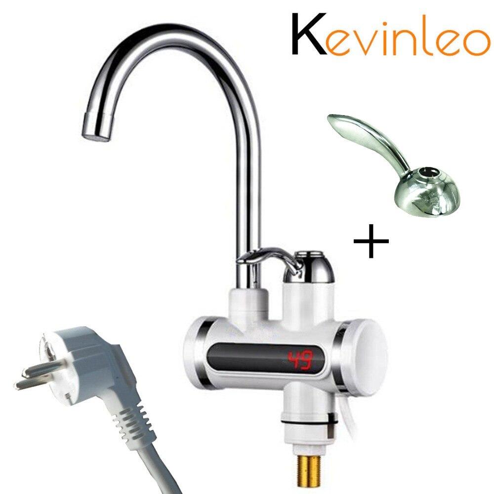 Chauffe-eau de cuisine sans réservoir 220V 110V 3000W robinet électrique instantané eau chaude chauffe-eau électrique rapide robinet affichage de la température