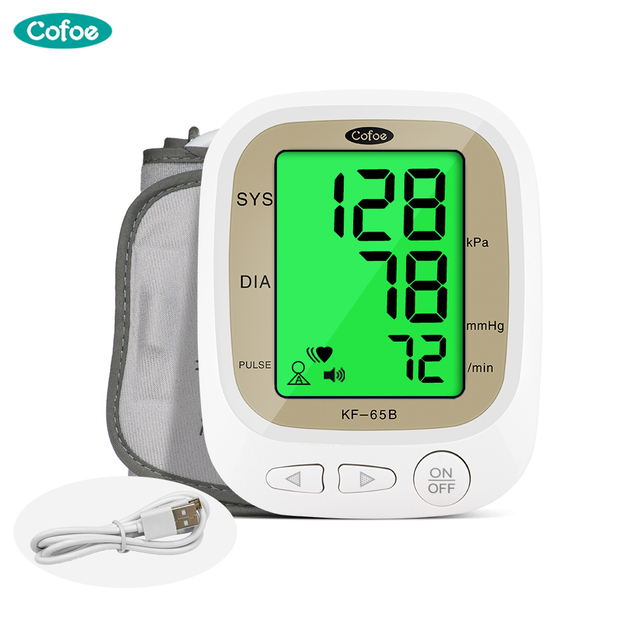Cofoe, Monitor automático de presión arterial, medidor de pulso de brazo superior, medidor de pulso de ritmo cardíaco BP, tonómetro Digital LCD, esfigmomanómetro