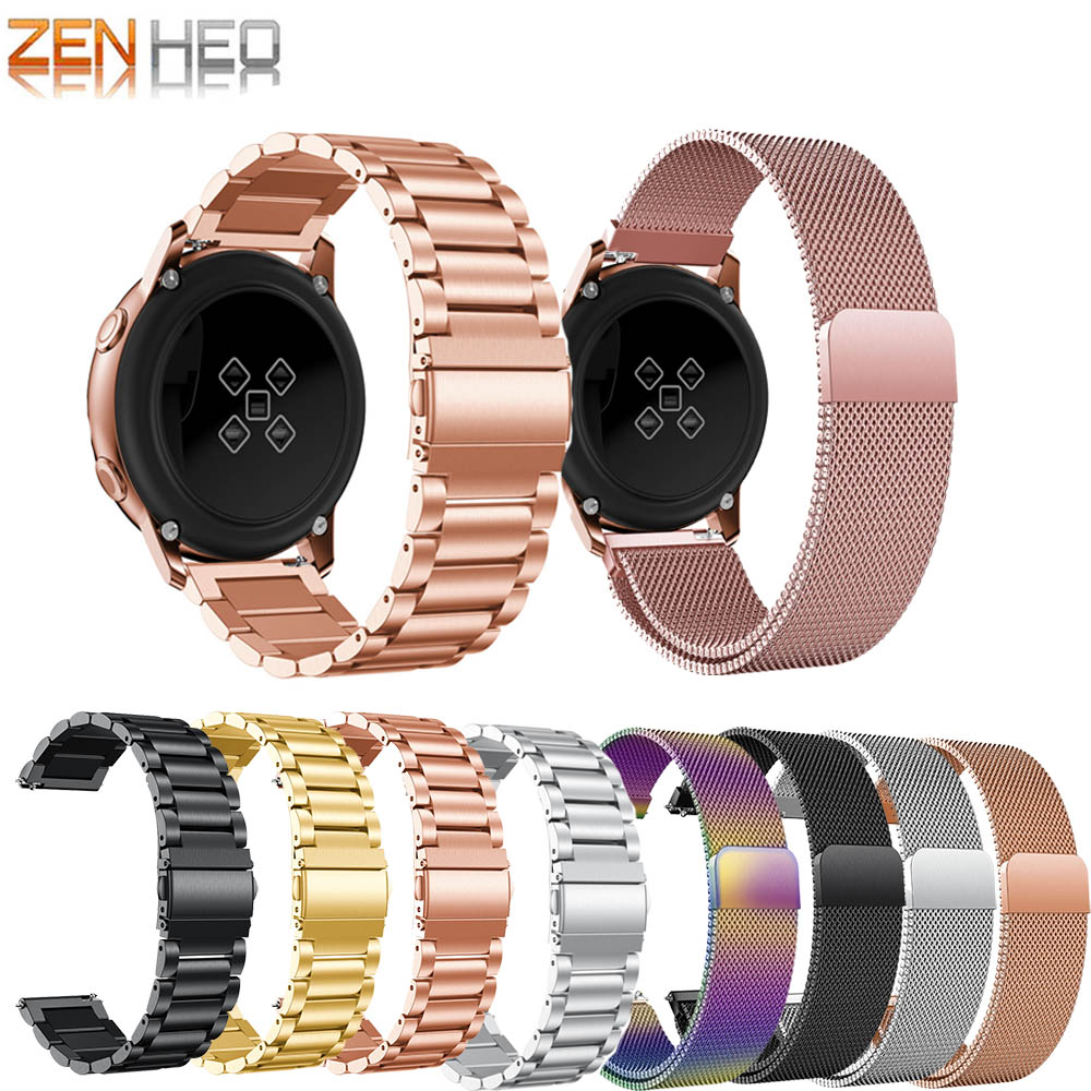 20mm Bracelet For Samsung Galaxy Watch Active 2 Stainless Steel Milanese Loop Watch Strap For Samsung Galaxy Watch 42mm Gear S2