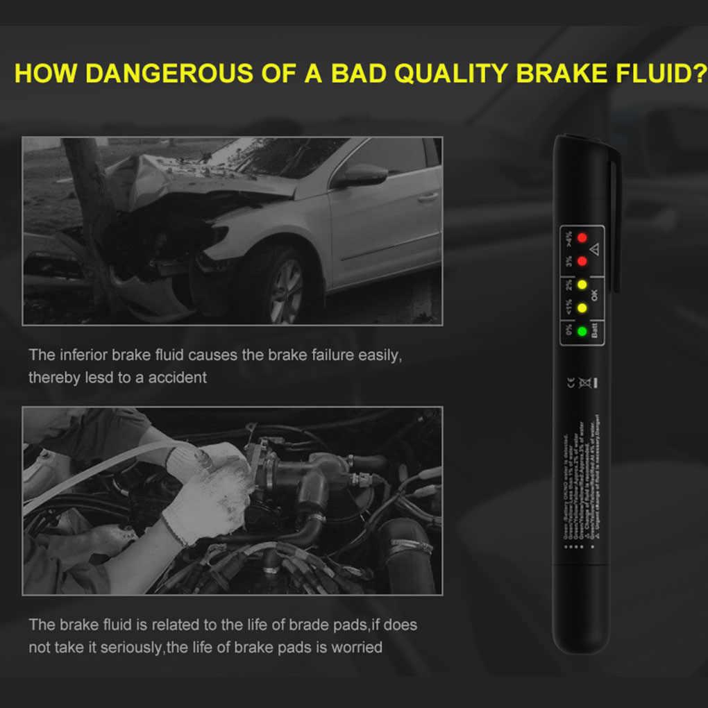 مكابح عالمية اختبار السائل سيارة الفرامل النفط جودة الاختيار الرقمي القلم سيارة أداة اختبار السيارات