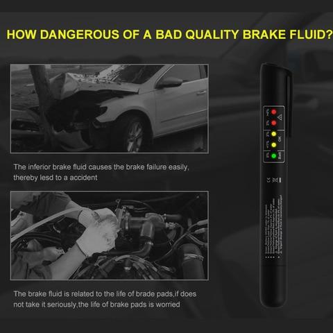 Universal Brake Fluid Tester Car Brake Oil Quality Digital Check Pen Vehicle Automotive Testing Tool Pakistan
