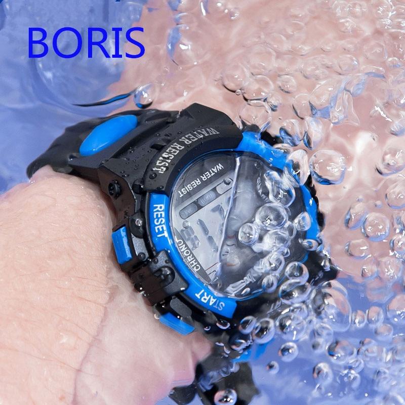 Детские часы спортивные детские часы водонепроницаемый силиконовый ремешок светодиодный цифровые часы для ребенок дети девочка мальчик