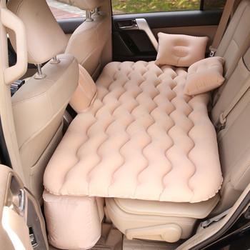 Nadmuchiwany materac materac dmuchany sen odpoczynek samochód SUV łóżko turystyczne uniwersalny fotelik samochodowy wielofunkcyjna na zewnątrz Camping Beach tanie i dobre opinie CN (pochodzenie) Flokowana tkanina 80 cm * 150 cm 130*70cm