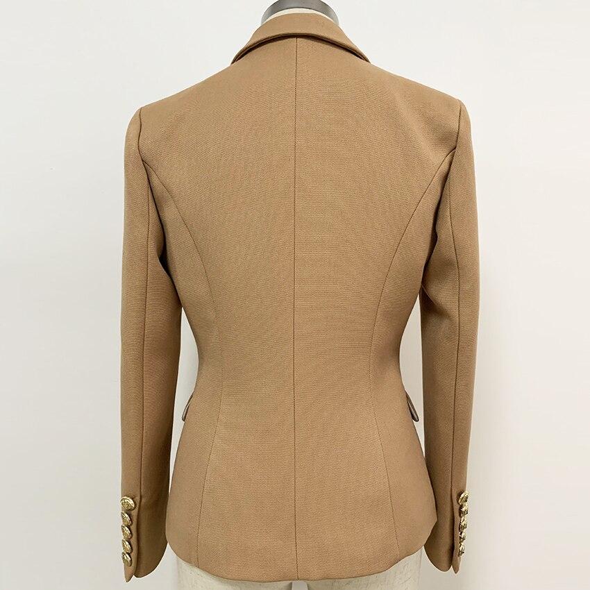Image 2 - HIGH QUALITY New Fashion 2020 Baroque Designer Blazer Jacket  Womens Slim Fitting Metal Lion Button BlazerBlazers