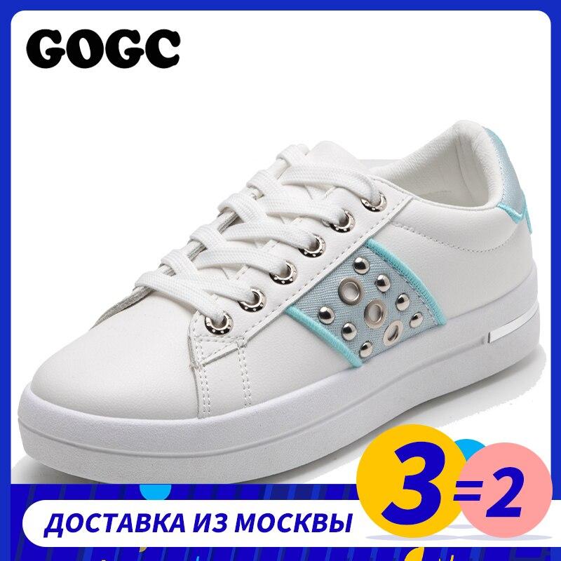 GOGC Sneakers 2020, zapatos informales transpirables para mujer, zapatillas de lona, zapatilla deportiva para mujer, zapatos con cordones, plataforma para mujer G6818