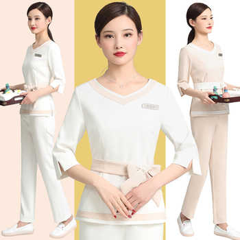 Beauty SPA pedicure technician working suit Female Summer Korea skin Management beauty salon professional working suit - DISCOUNT ITEM  15 OFF All Category