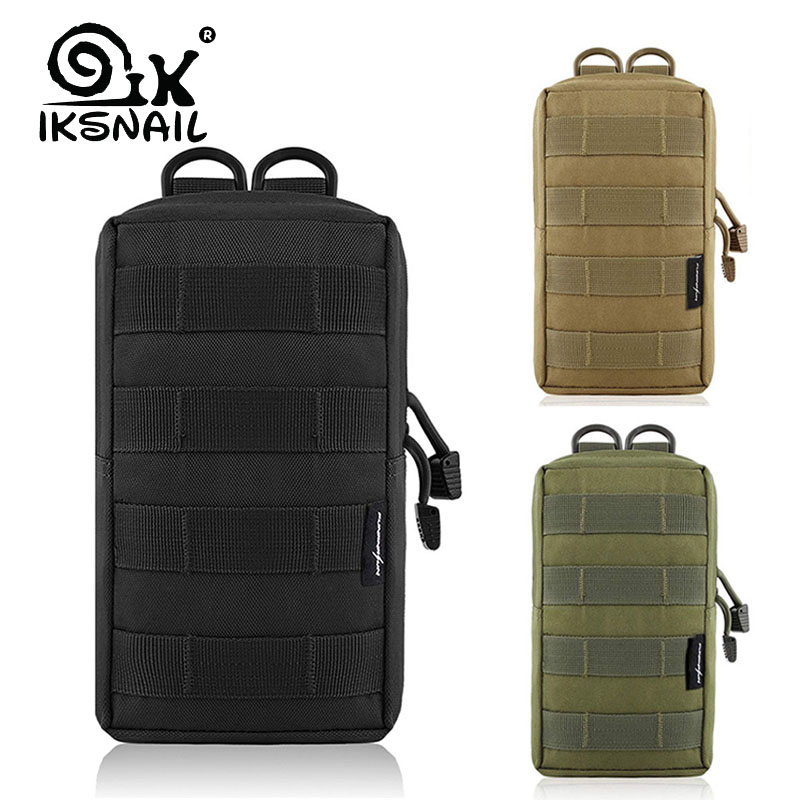 IKSNAIL EDC Molle Pouch Bag Outdoor Vest Waist Pack Hunting Backpack Accessory Gadget Gear Sport Bag Compact Water-resistant Bag