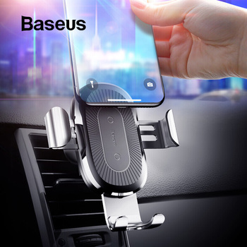 Baseus 10W Qi Car Wireless Charger For iPhone XS Max Quick Charge Fast Wireless Charging Car Holder Stand For Samsung S8