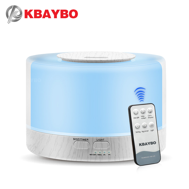 700ml Remote Control Ultrasonic Electric Air Humidifier Essential Oil Aroma Diffuser With 7 Color Changing LED Lamp For Home