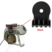 Tactical-Helmet Rail-Adapter Platform-Mounted on Outdoor Hunting Headset
