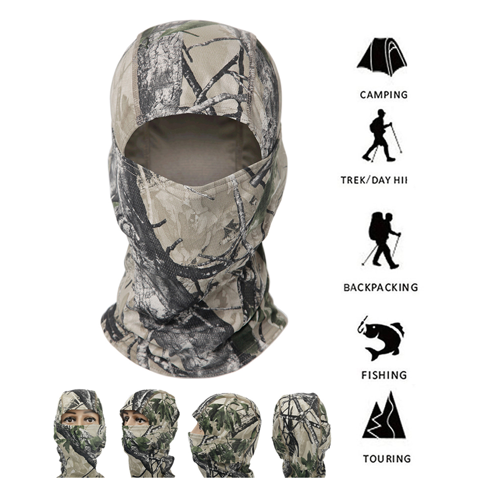 Hot Hunting Camouflage Hood Tactical Mask Balaclava Full Face Ski Mask Army Military Tactical Sunscreen Cap Bike Cycling Mask