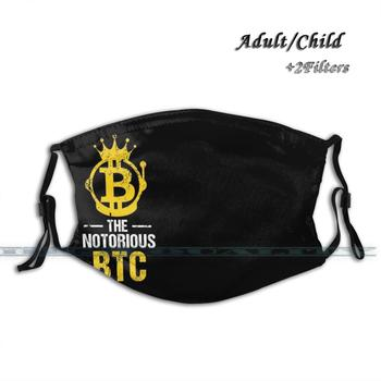 Notorious Btc Bitcoin Crypto Reusable Face Mask 1