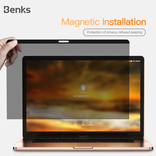 Benks Magnetic Anti-spy Screen Protector Film For Apple Macbook Notebook 12/13/15 inch Full Privacy Protect For Air13 Pro Retina cocoafoal woman silvery crystal pumps pointed toe stiletto sexy wedding pumps plus size 32 33 43 47 crystal high heels shoes