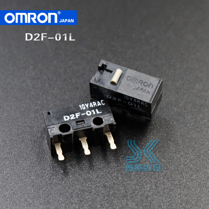 2pcs OMRON Mouse Micro Switch Microswitch D2F-01L 1.47N Mouse Button Gold Contacts Suitable For Logitech G602 G502 G400 IO1.1