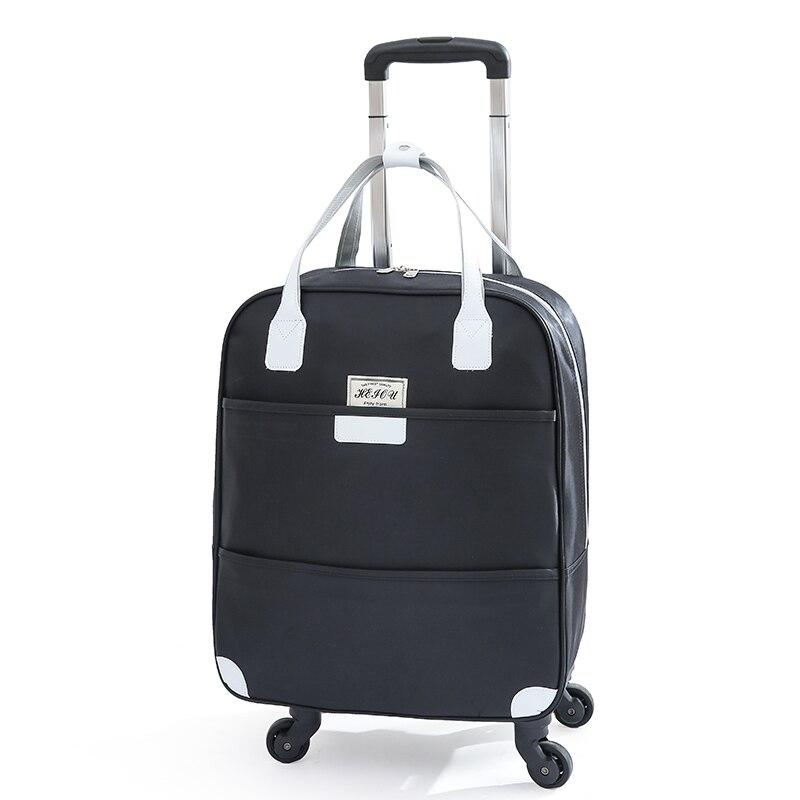 Oxford 22 polegada saco do trole do curso das mulheres sobre rodas carry on bagagem de mão saco de rolamento de viagem mala de viagem mala de viagem com rodas