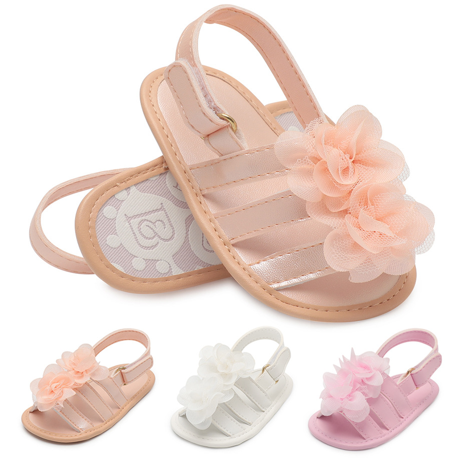 2019 Baby Summer Shoes Newborn Infant Baby Girls Boys Shoes Solid Non-slip Flower PU Leather Breathable Toddler Shoes 0-18M