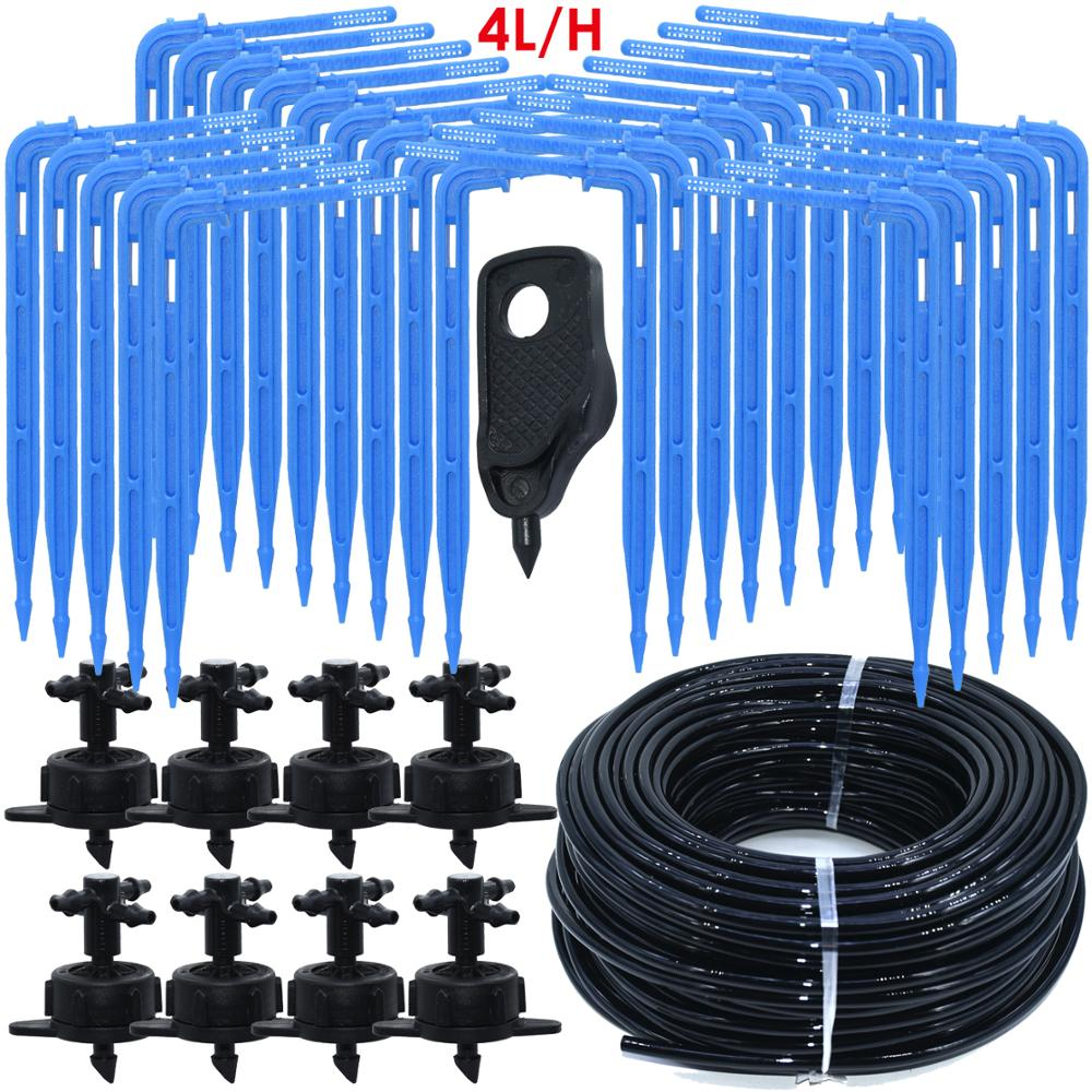 Greenhouse Drip Irrigation 4-way 3/5mm  Drip Arrow 2-way Transmitter Irrigation Watering System for Pot Garden Lawn 10set/20set