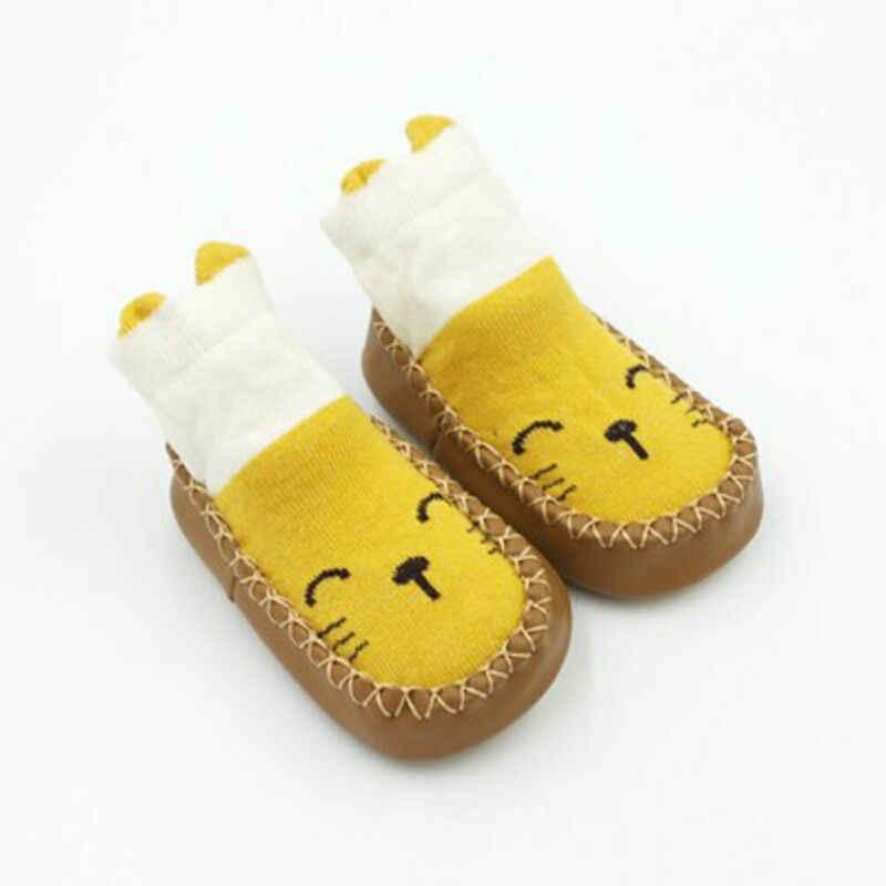Calcetines antideslizantes de algodón para recién nacidos, Calcetines antideslizantes para bebés y niñas, calcetines para bebé y niñas, bonitos animales de dibujos animados para niños, Calcetines antideslizantes para el suelo