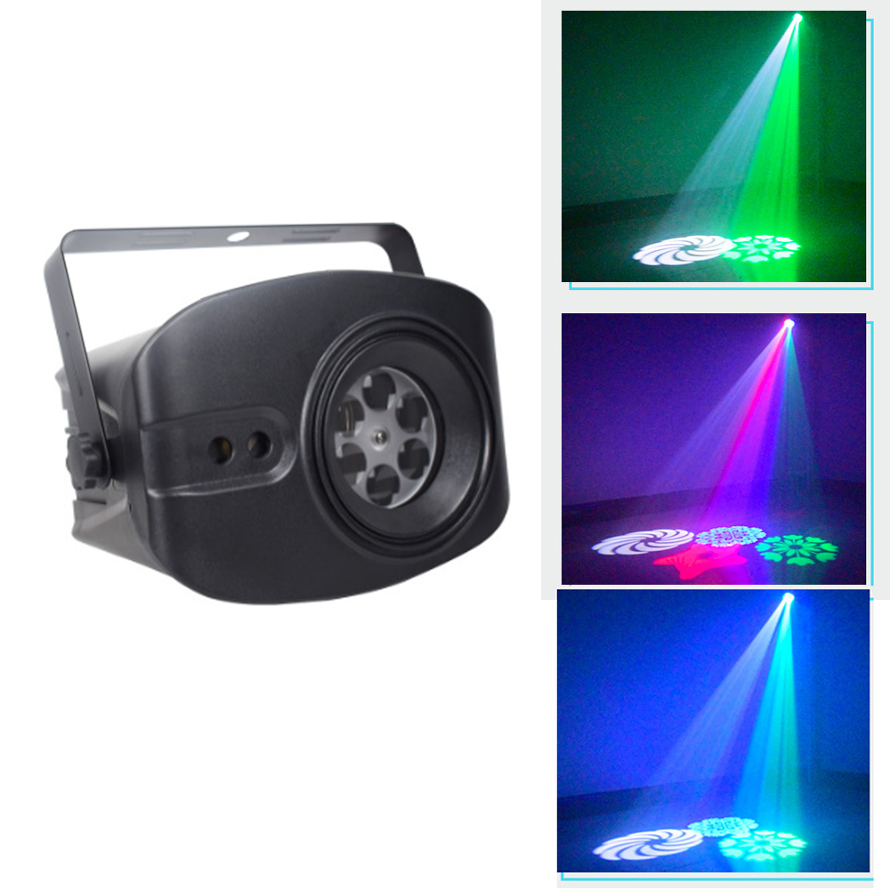 2020 Newest RGBW Disco Light DJ LED Laser Stage Projector Red Blue Green Lamp USB Rechargeable Wedding Birthday Party DJ Lamp