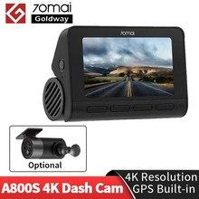 70mai a800s a800 traço cam 4k embutido gps adas real 4k câmera uhd cinema-imagem de qualidade 24h estacionamento 140 fov a800 s dvr carro cam