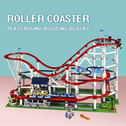 In stock 15039 Creator Amusement Park Roller Coaster Extreme Speed Model Building Block Bricks education Toys compatible10261