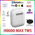 Оригинальные беспроводные Bluetooth-гарнитуры i90000 MAX TWS 1:1 с GPS, переименованием, PKi7 i11 i14 i15 i16 i18 i30 i10 i20 i99999PRO i1000 i2000MAX