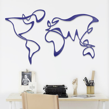 Creative DIY abstract world map INS chidrens room bedroom living TV background wall decoration 3D acrylic sticker