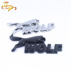 Металлическая Наклейка для стайлинга автомобиля Наклейка Wolf для Ford Fiesta Mondeo Fusion Ecosport Focus 3 Kuga Edge Ranger ession 3D эмблема, боковой значок