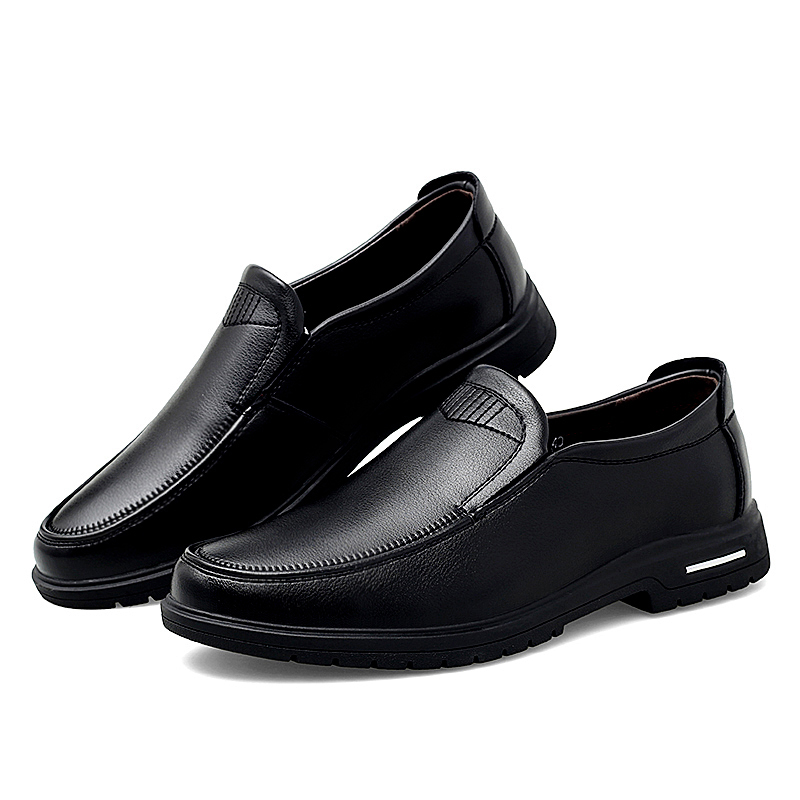 Spring Men Leather Shoes Fashion Male Flats Round Toe Comfortable Office Dress Shoes Size 38-44 Men Business Shoes `6