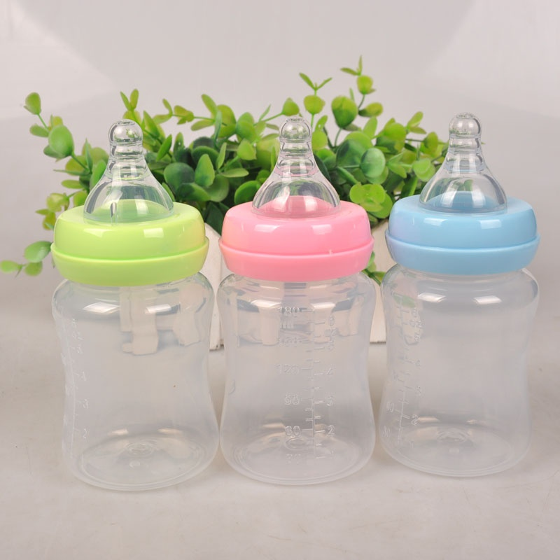 180ML Baby Portable Feeding Bottle Newborn Kids Nursing Care Feeder Fruit Juice Medicine Milk BPA Free Safety Bottles